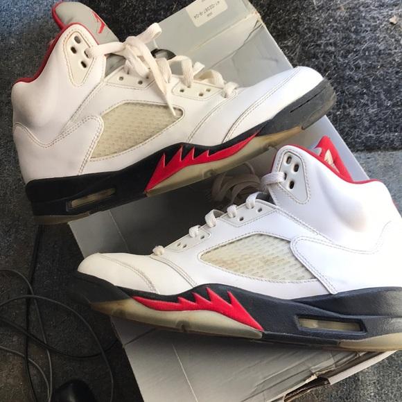 newest e098a e7549 Jordan Fire Red 5s size 10 (2012)
